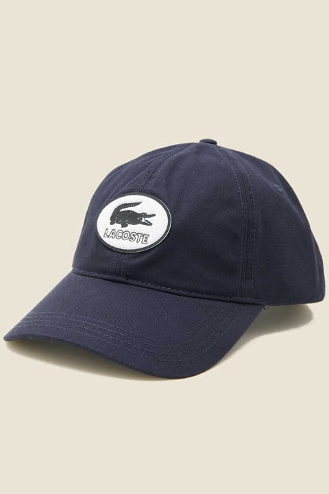 LACOSTE Heritage Cotton Twill Cap Navy