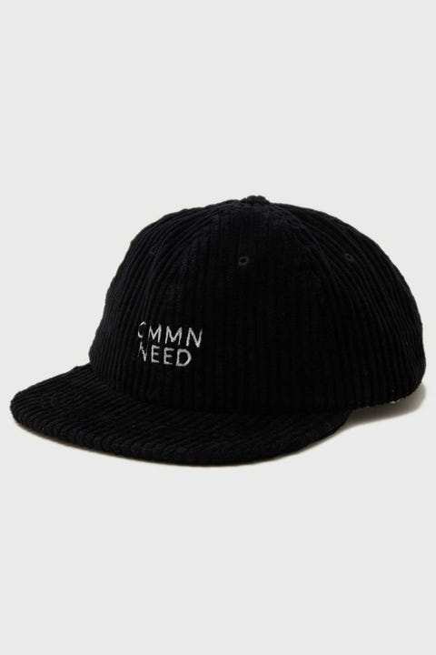 Common Need Cord Relaxed Dad Cap Washed Black