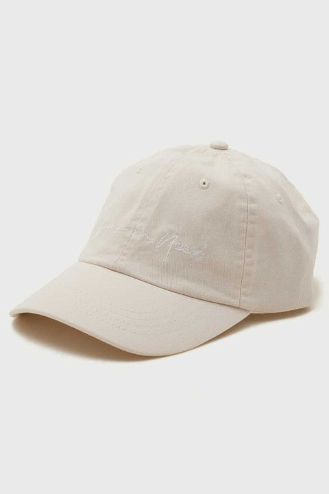 Common Need Script Dad Cap Off White Tonal