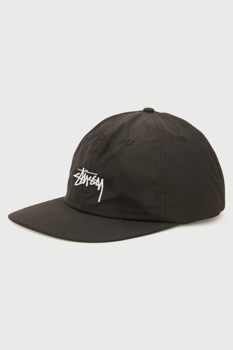 Stussy Stock Strapback Cap Black Nylon