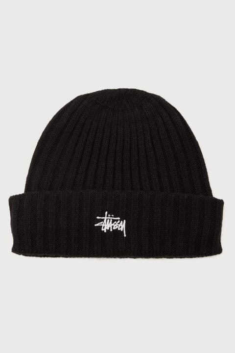 Stussy Graffiti Rib Knit Beanie Black