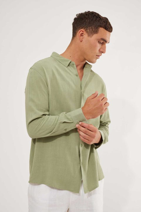 Common Need Raymond Slim Shirt Sage