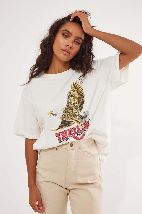 Thrills Victory Merch Tee Dirty White