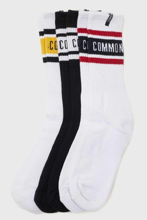Common Need Aviator Sock 3 Pack White/Black