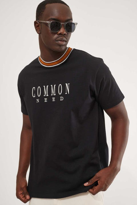 Common Need Mayweather Ringer Tee Black/Gold