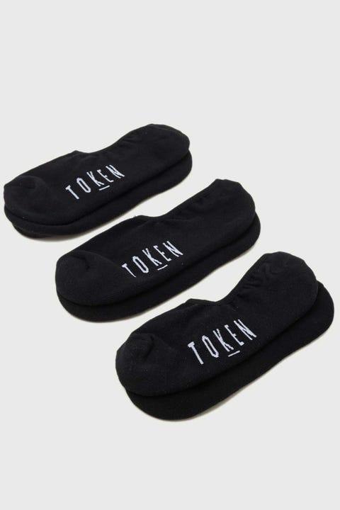Token No Show Sock 3 Pack Black