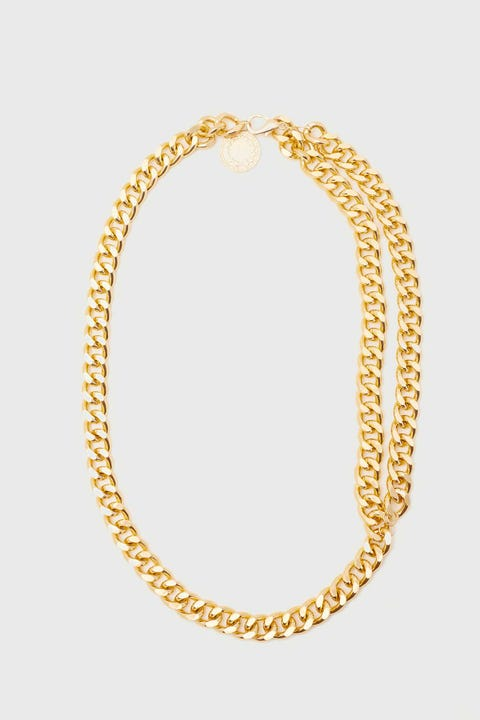 Token Thick Chain Belt Gold