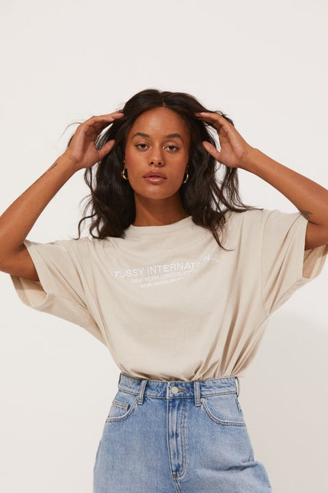 Stussy Dilon Relaxed Tee White Sand