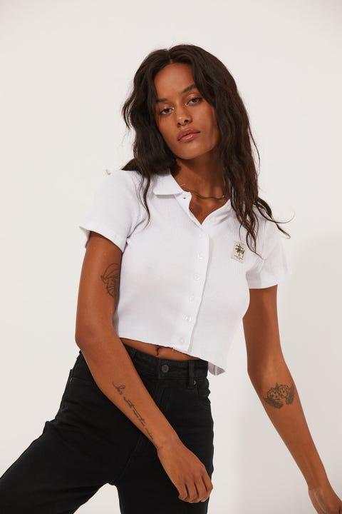 Stussy Markham Rib Shirt White