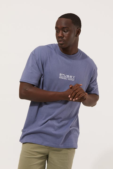 Stussy Stussy Corp Tee Dusty Blue