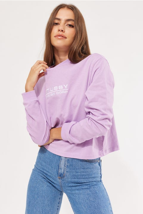 Stussy Design Corp Mock Neck LS Tee Orchid