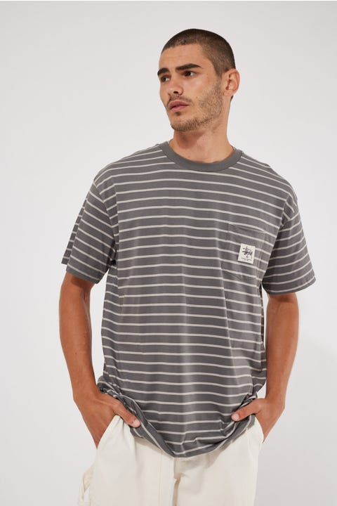 Stussy Kalorama Stripe SS Tee Atmosphere