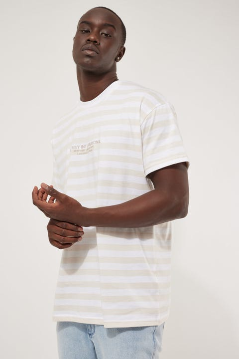 Stussy International SS Stripe Tee Neutral