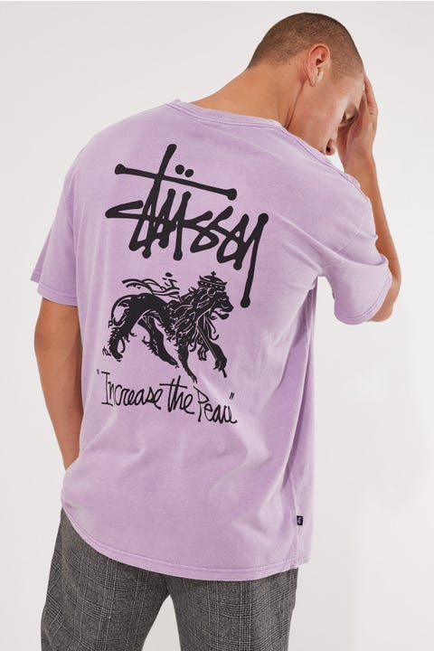 Stussy Increase The Peace SS Tee Pigment Orchid