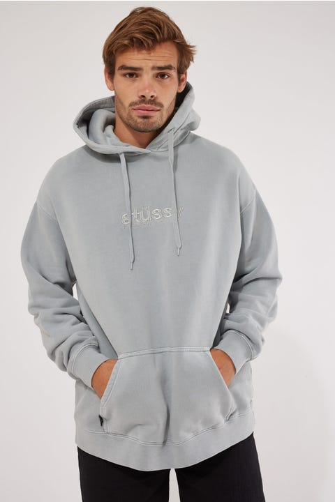 Stussy Italic Pigment Hood Pigment Flat Grey