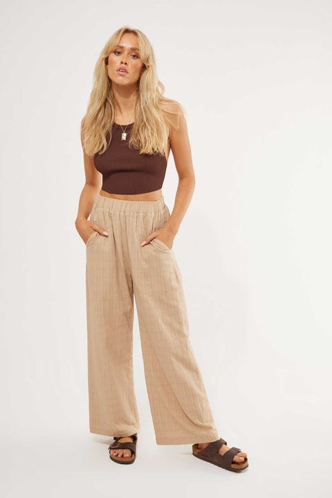 Perfect Stranger Beach Pant Taupe