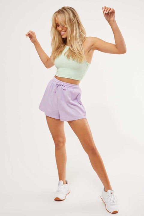 L&T Rib Short Lilac