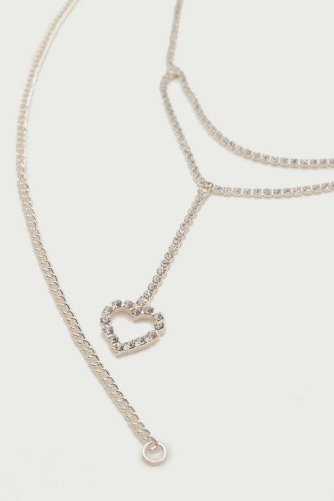 Token Diamante Heart Chain Belt Silver