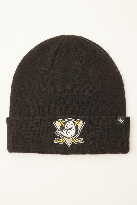 47 Brand Raised Cuff Knit Beanie Anaheim Ducks Black