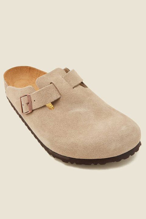 BIRKENSTOCK Mens Boston Taupe Suede
