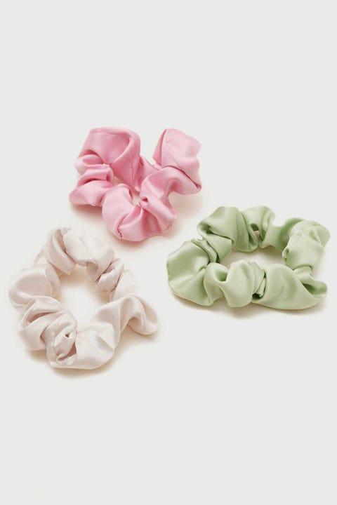 Token Thin Scrunchies 3 Pack Pink/Pistachio/Nude
