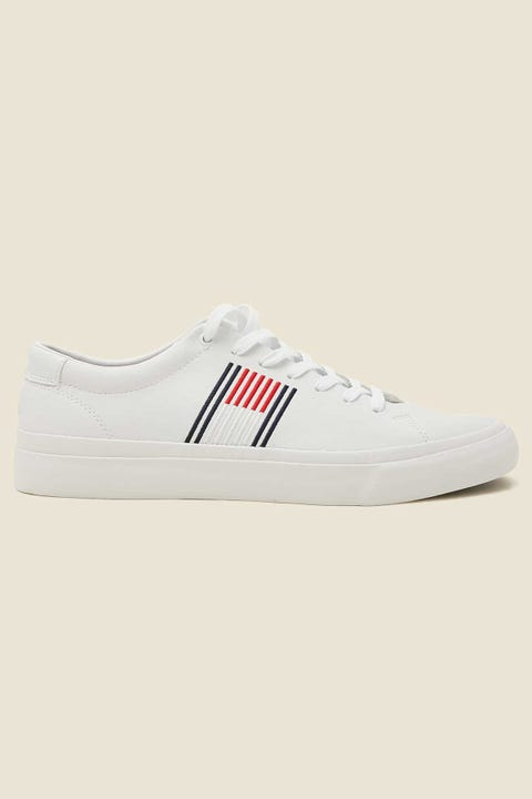 TOMMY JEANS Mens Corporate Leather Sneaker White