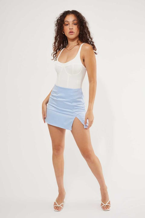 Luck & Trouble Think Twice Skirt Blue