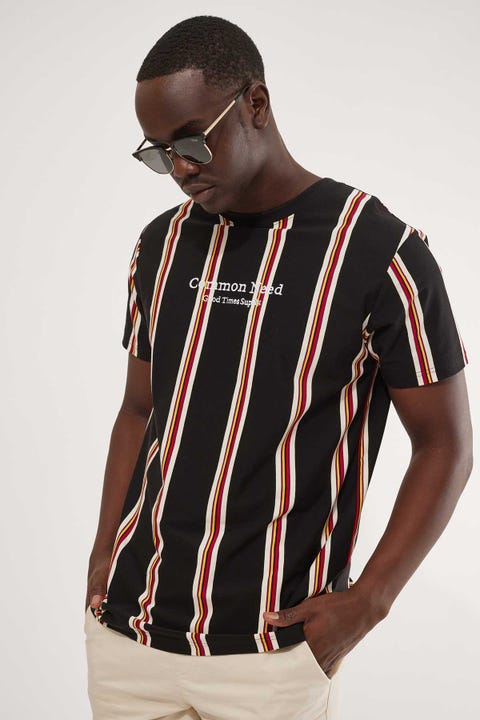 Common Need Auckland Stripe Tee Black Stripe