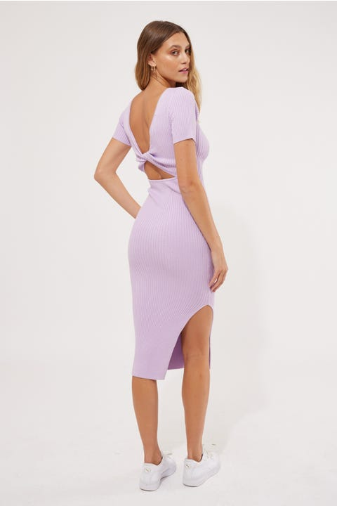 Perfect Stranger Leni Two Way Midi Dress Purple