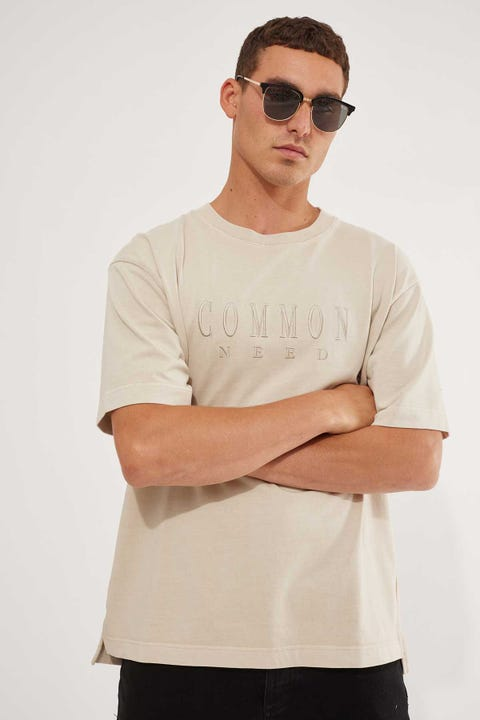 Common Need Sense Boxy Tee Washed Stone