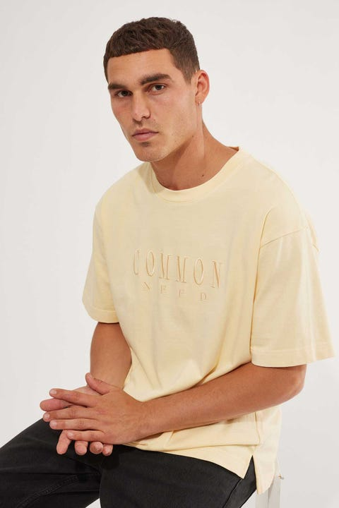 Common Need Sense Boxy Tee Washed Yellow