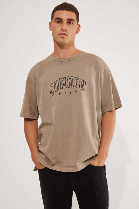 Common Need Recognize Boxy Tee Washed Mocha