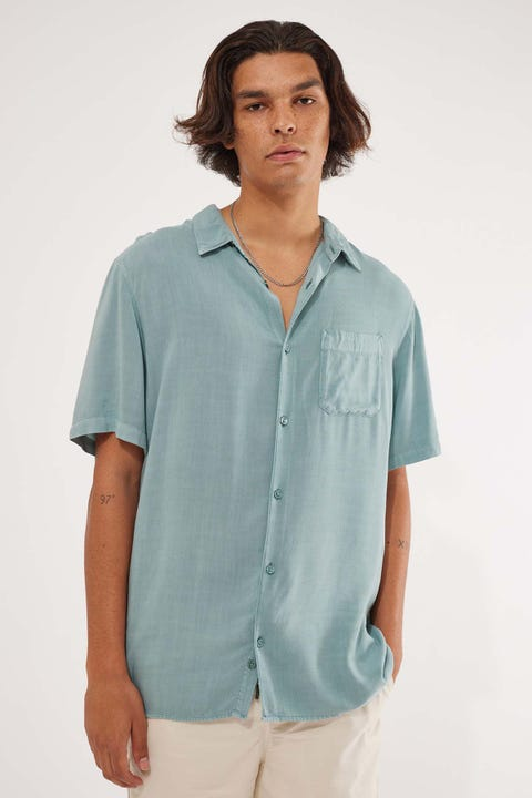 Common Need Pivot Party Shirt Mineral Blue