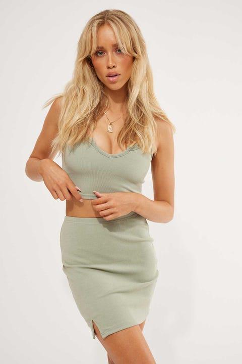 L&T Jojo Mini Skirt Sage
