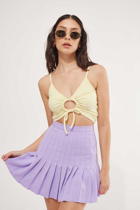 Luck & Trouble Tokyo Pleated Mini Skirt Purple