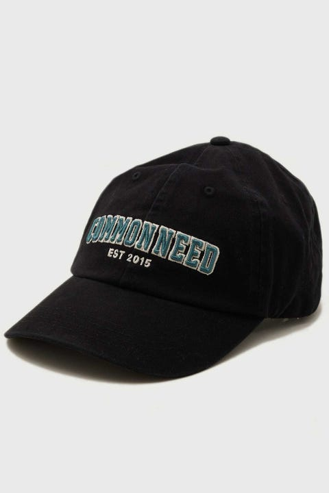 Common Need Collegiate Dad Cap Washed Black
