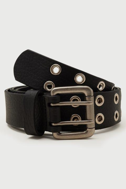 Common Need Eyelet Belt Black/Silver