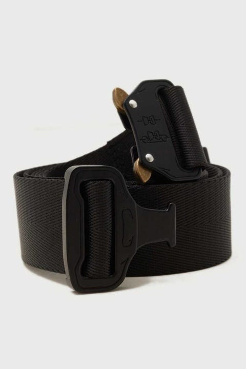 Common Need Cobra Buckle Web Belt Black