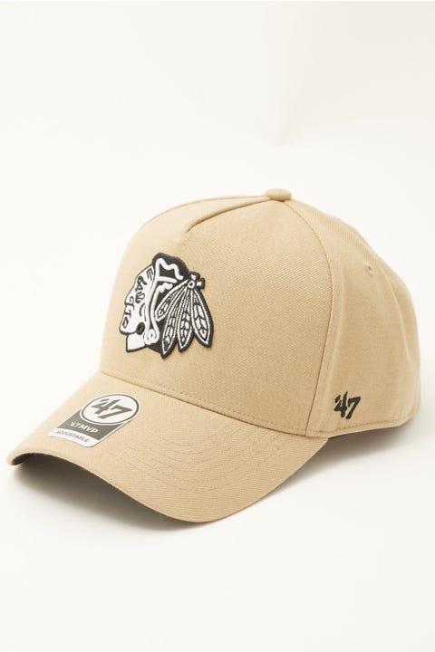 47 Brand MVP DT Chicago Blackhawks Snapback Khaki