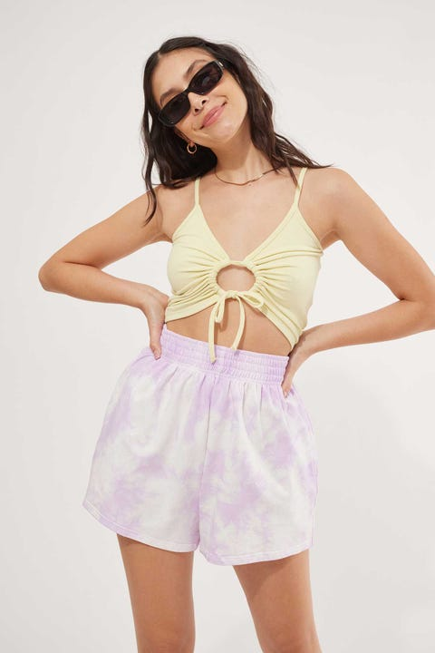 Luck & Trouble Tie Dye Short Purple