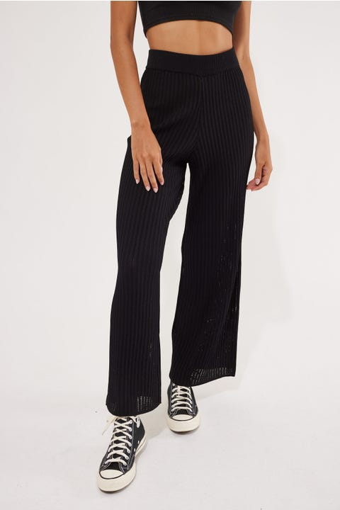Perfect Stranger Cast Away Knit Pant Black
