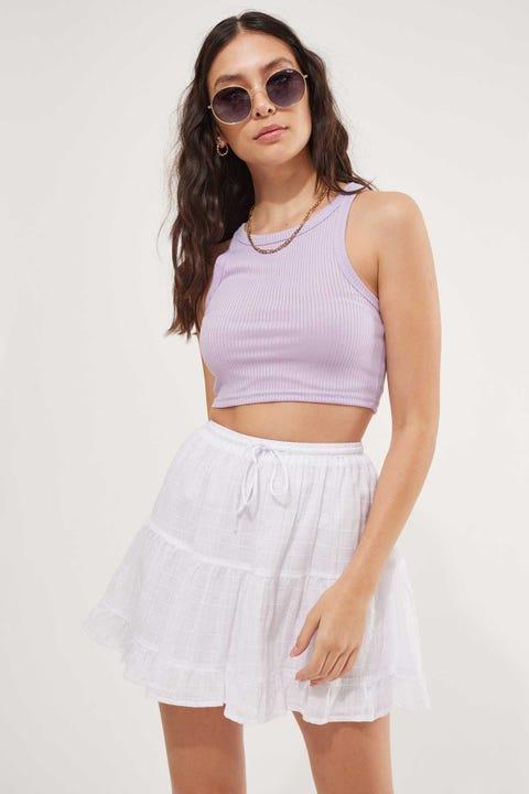 Luck & Trouble Hawaii Mini Skirt White