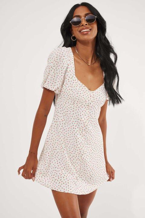 Perfect Stranger Danika Floral Mini Dress White Floral