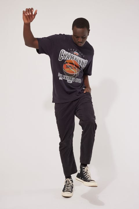 Mitchell & Ness Vintage Spurs 1999 Tee Faded Black
