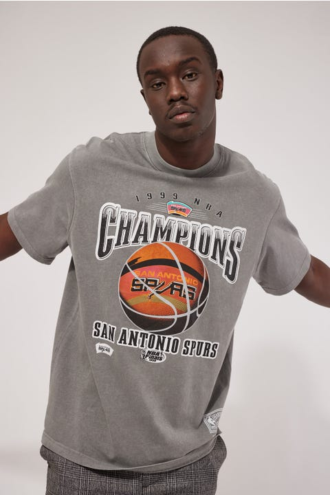 Mitchell & Ness Vintage Spurs 1999 Tee Faded Grey