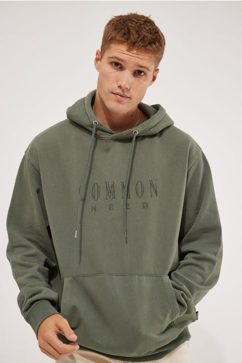 Common Need Sense Insulate Hoodie Agave Green