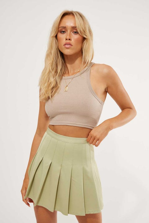 Luck & Trouble Schools Out Mini Skirt Green