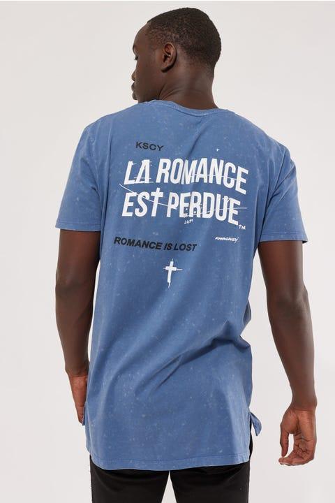 Kiss Chacey Romantic Step Hem Tee Acid Blue