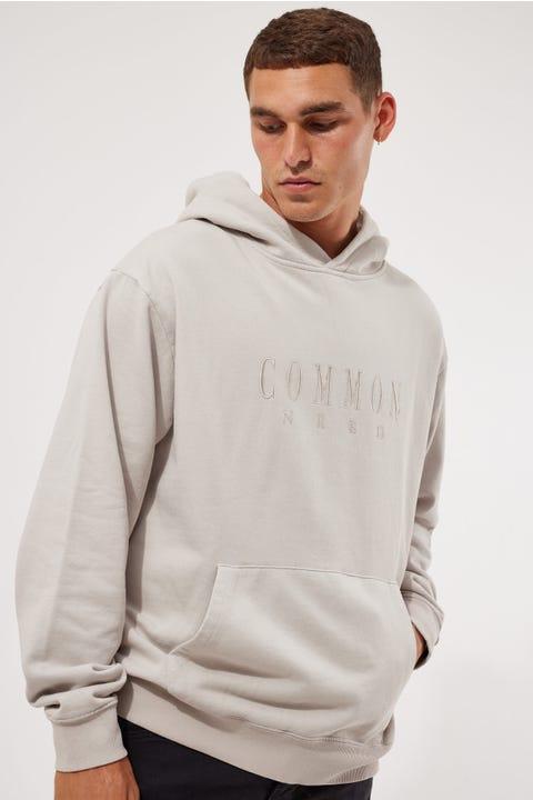 Common Need Sense Cordless Hoodie Light Grey