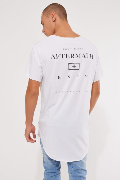 Kiss Chacey Aftermath Raw V Neck Tee White